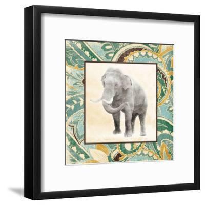 Floral Sea Elephant-Jace Grey-Framed Art Print