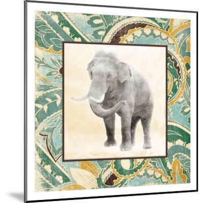 Floral Sea Elephant-Jace Grey-Mounted Art Print