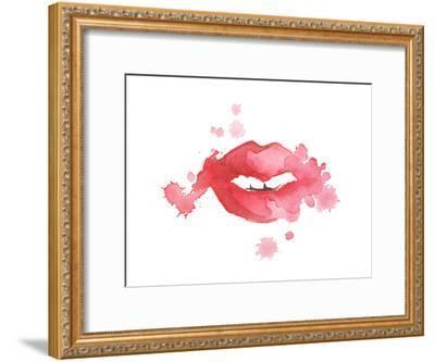 Lip Splash-Alicia Zyburt-Framed Art Print