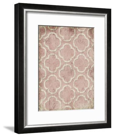 Antique Reverse Rose Wall Mate-Jace Grey-Framed Art Print