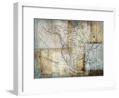 Rustic Map Two-Jace Grey-Framed Art Print