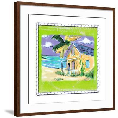 Beach-Front Cottage-Anne Ormsby-Framed Art Print
