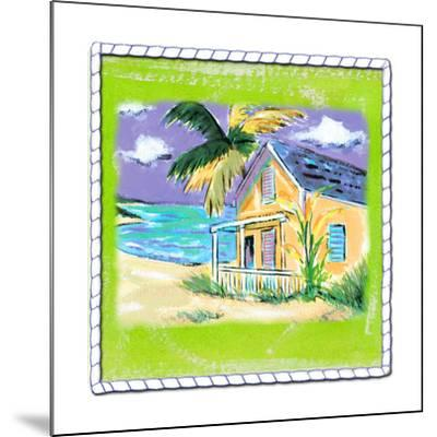 Beach-Front Cottage-Anne Ormsby-Mounted Art Print