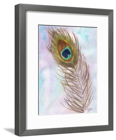 Peacocl Feather 2-Beverly Dyer-Framed Art Print