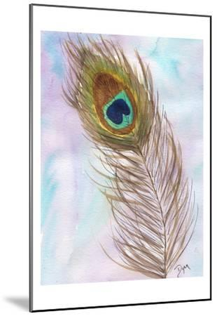 Peacocl Feather 2-Beverly Dyer-Mounted Art Print