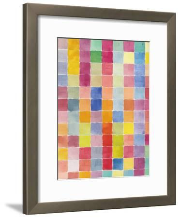 Rainbow Color Block 2-Beverly Dyer-Framed Art Print