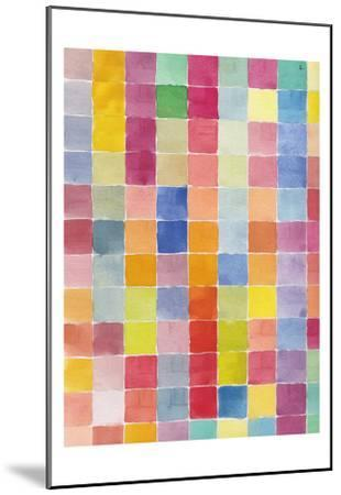 Rainbow Color Block 2-Beverly Dyer-Mounted Art Print