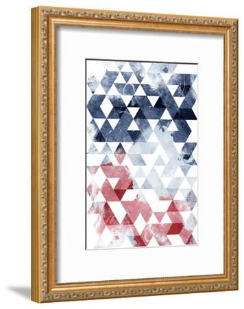 Americana Triangles Too-OnRei-Framed Art Print