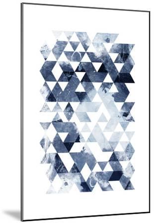 Blue Triangles Mate-OnRei-Mounted Art Print