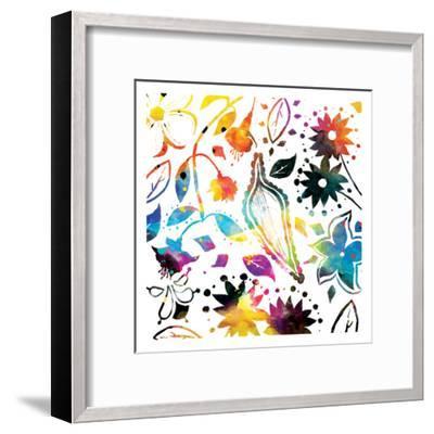 Colorful Florals-Jace Grey-Framed Art Print