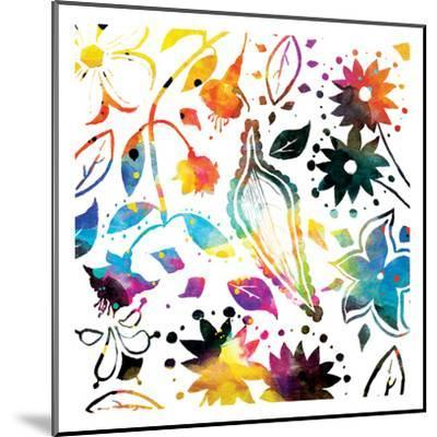 Colorful Florals-Jace Grey-Mounted Art Print
