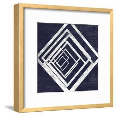 Indigo And White Escape-Sheldon Lewis-Framed Art Print