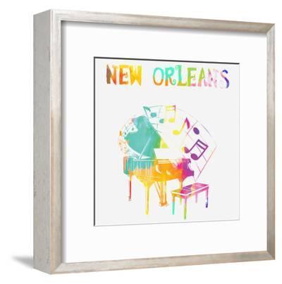 New Orleans Piano-Sheldon Lewis-Framed Art Print