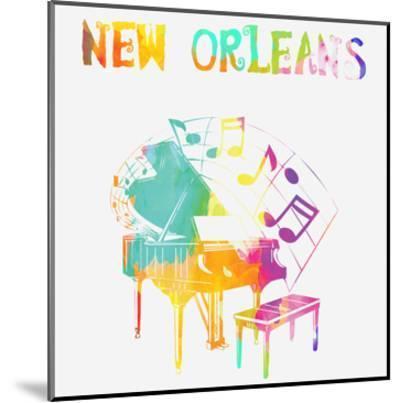 New Orleans Piano-Sheldon Lewis-Mounted Art Print