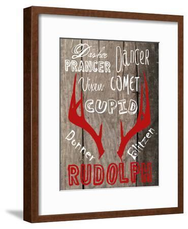 All Of The Other Reindeer-Sheldon Lewis-Framed Art Print