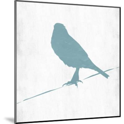 Little Spring Bird On Wire-Sheldon Lewis-Mounted Art Print