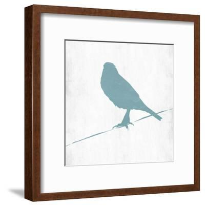 Little Spring Bird On Wire-Sheldon Lewis-Framed Art Print