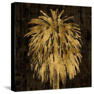 Palms In Gold I-Kate Bennett-Stretched Canvas Print