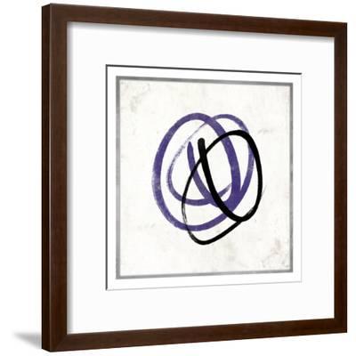 Abstract Circle Mate Purple-Jace Grey-Framed Art Print