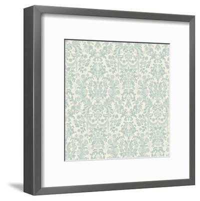 Floral Pattern Reverse-Jace Grey-Framed Art Print