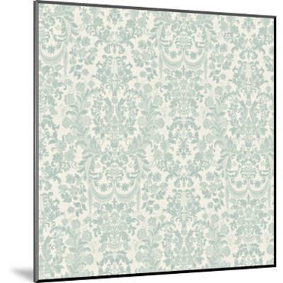 Floral Pattern Reverse-Jace Grey-Mounted Art Print