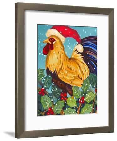 Christmas Rooster-Laurie Korsgaden-Framed Art Print
