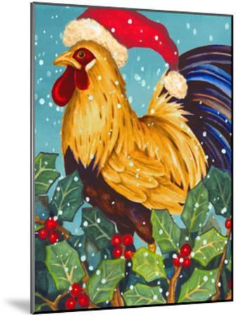Christmas Rooster-Laurie Korsgaden-Mounted Art Print