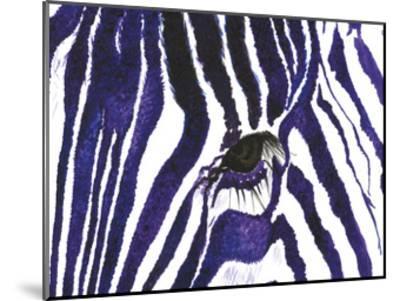 Blue Zebra-Simona Altavilla-Mounted Art Print