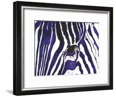 Blue Zebra-Simona Altavilla-Framed Art Print