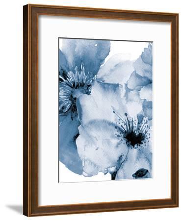 Raining Flowers 2-Victoria Brown-Framed Art Print