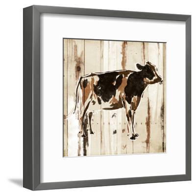 How Now Brown Cow-OnRei-Framed Art Print