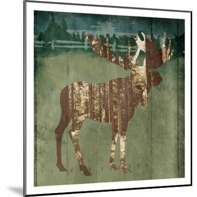 Moose In The Field-OnRei-Mounted Art Print