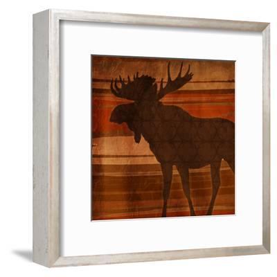 Moose Stripes-Jace Grey-Framed Art Print