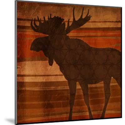 Moose Stripes-Jace Grey-Mounted Art Print