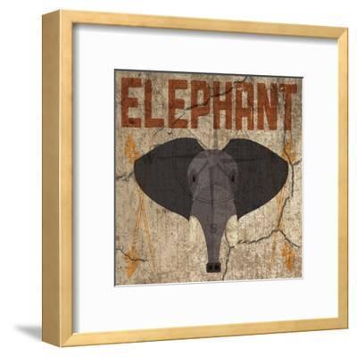 Safari Set 3 Elephant-Melody Hogan-Framed Art Print