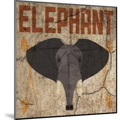 Safari Set 3 Elephant-Melody Hogan-Mounted Art Print
