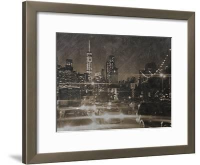 Night Life @ Brooklyn Brdg Park-Sheldon Lewis-Framed Art Print
