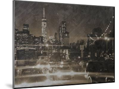 Night Life @ Brooklyn Brdg Park-Sheldon Lewis-Mounted Art Print