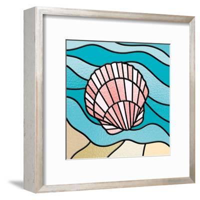 Seashell Stained Glass-Marcus Prime-Framed Art Print