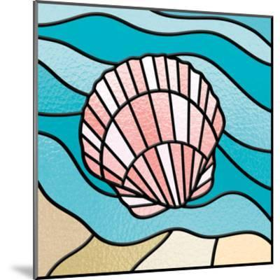 Seashell Stained Glass-Marcus Prime-Mounted Art Print