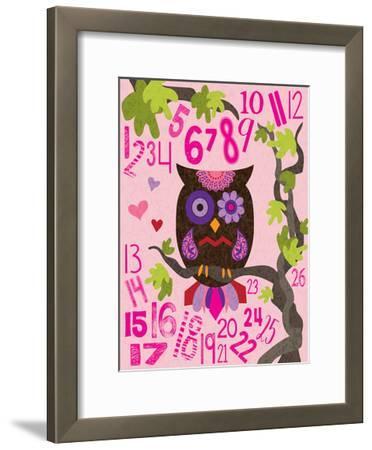 Owl Set Numlet Pinks 2-Melody Hogan-Framed Art Print