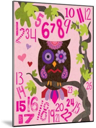 Owl Set Numlet Pinks 2-Melody Hogan-Mounted Art Print