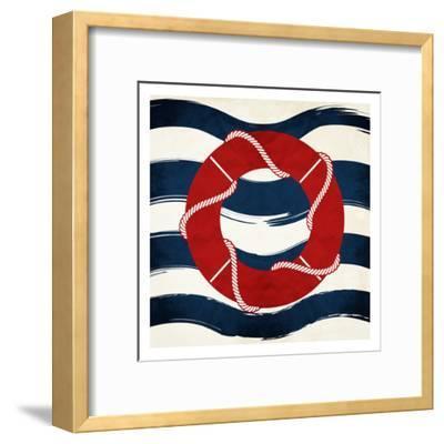 Lifesaver Waves-Jace Grey-Framed Art Print
