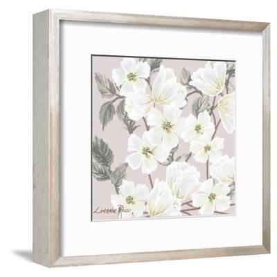 White Flower on Nude 2-Lorraine Rossi-Framed Art Print