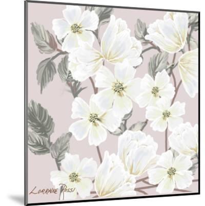 White Flower on Nude 2-Lorraine Rossi-Mounted Art Print