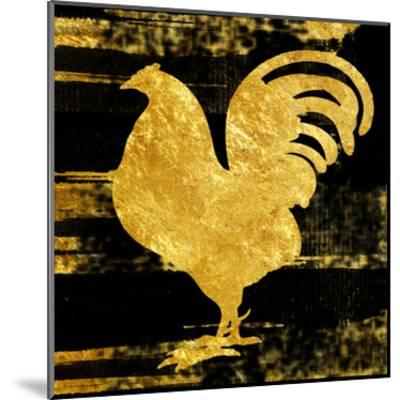 Gold Rush Rooster-Sheldon Lewis-Mounted Art Print