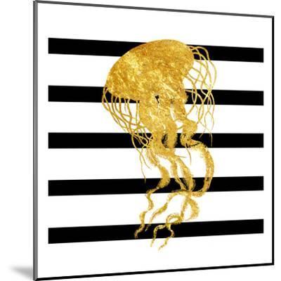 Golden Jelly Fish-Sheldon Lewis-Mounted Art Print