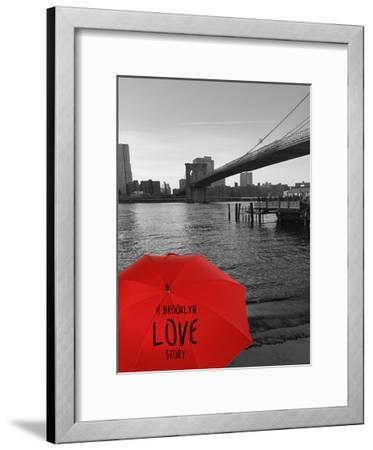 Magical Evening @ Brooklyn Brdg-Sheldon Lewis-Framed Art Print