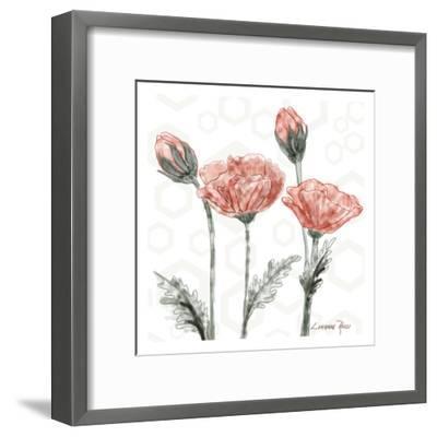 Poppy Umbrella-Lorraine Rossi-Framed Art Print