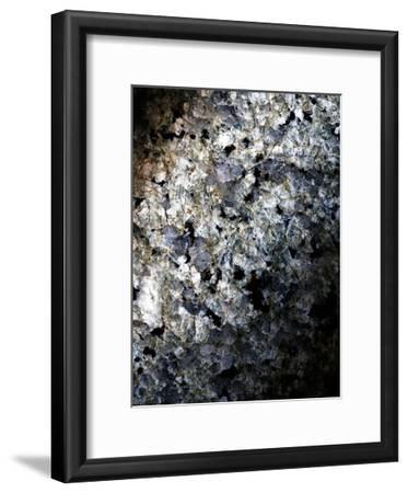 Gray Minerals 1-Sandro De Carvalho-Framed Art Print